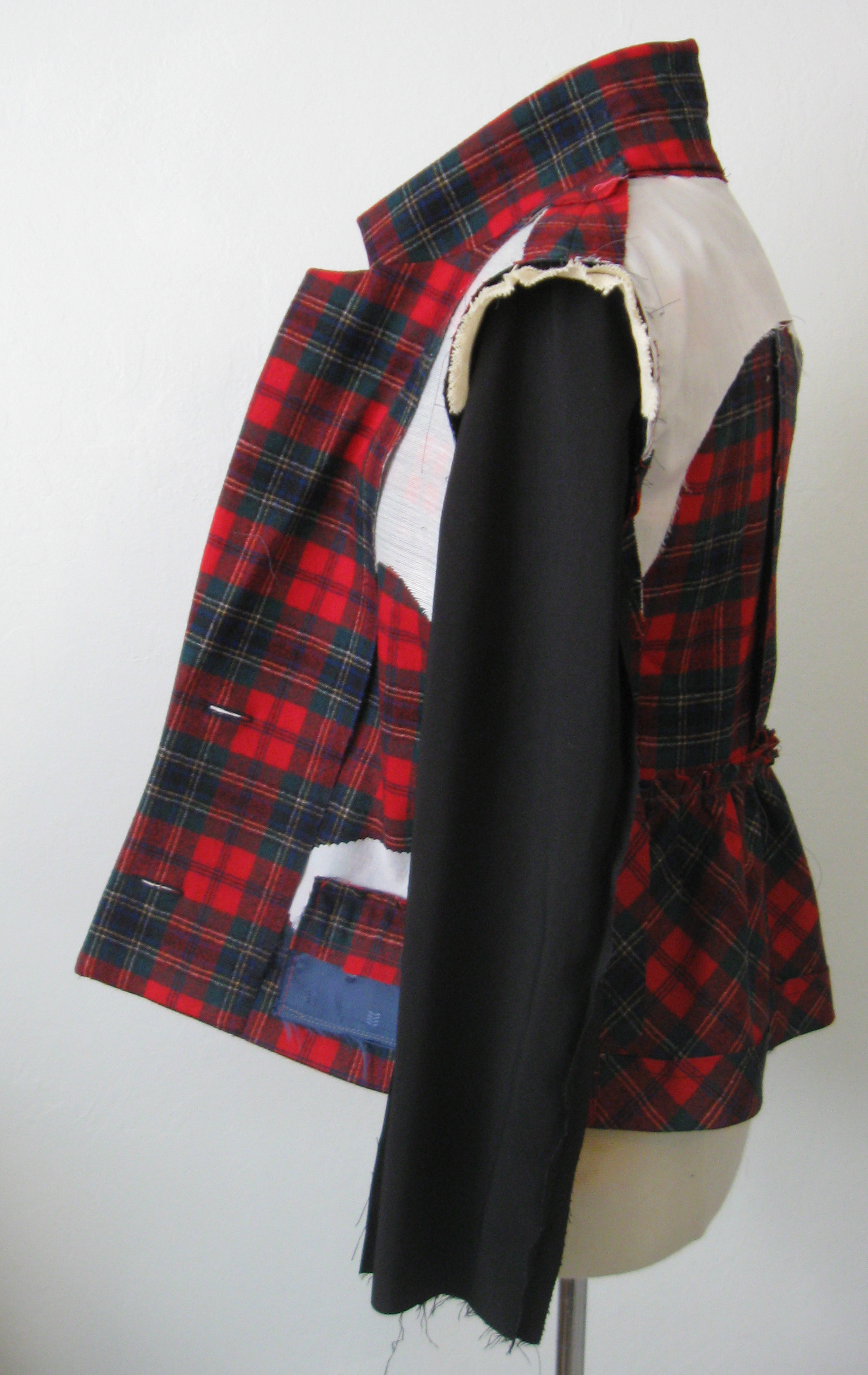 plaid jacket inside