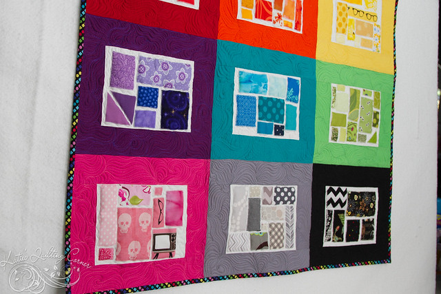Ticker Tape Applique Quilt