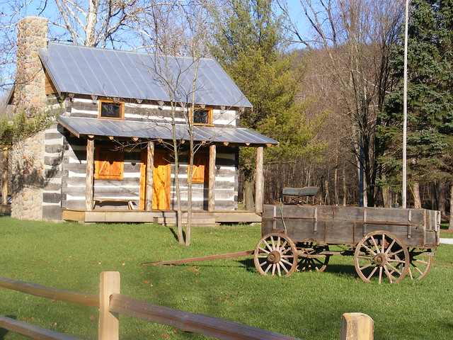 Mohican State Park Cabin And Wagon Flickr Photo Sharing