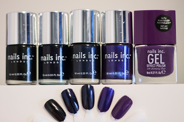 Nails Inc Black Taxi, Nails Inc Motcomb Street, Nails Inc Kabaret, Nails Inc The Mall, Nails Inc Bond Street
