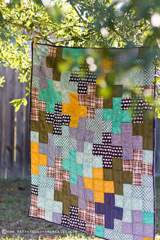 Scrappy Baby Plus Sign Quilt