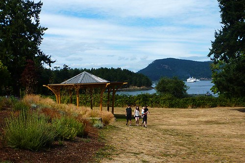 Park at Miners Bay on Mayne Island, Southern Gulf Islands, British Columbia