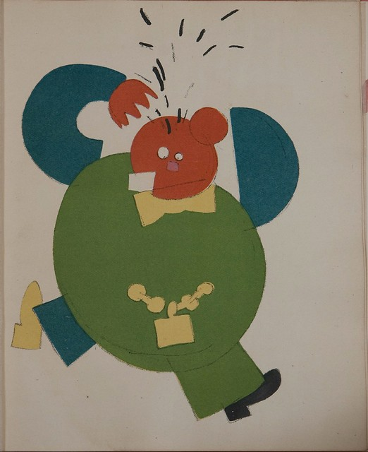 Russian placards, 1917-1922 (Vladimir Lebedev) - A bourgeois tearing his hair...(..)