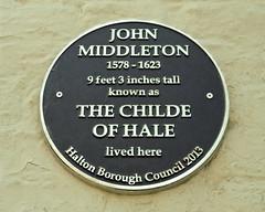 Photo of John Middleton black plaque