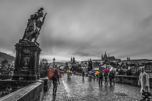 old city bridge autumn light sunset sky people colour reflection tower clouds canon landscape eos town europe day republic niceshot view czech prague charles praha most 1855mm x4 karluv 2014 550d abigfave colorphotoaward mygearandme ringexcellence