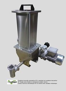 Dosatore monovite volumetrico SF con variatore meccanico