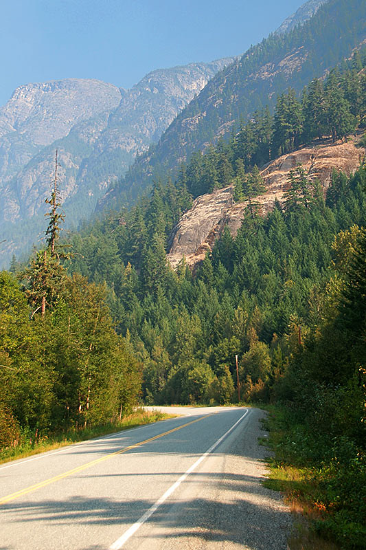 The Bella Coola Road (Highway 20) passes through Tweedsmuir South Provincial Park, Chilcotin, British Columbia, Canada