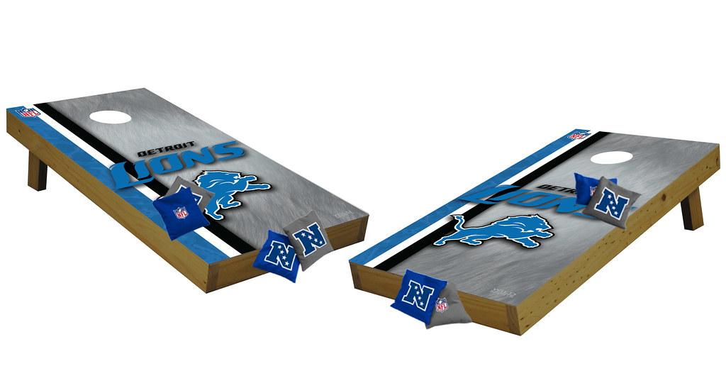 Detroit Lions Premium Cornhole Boards