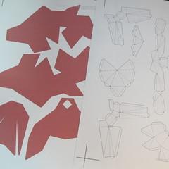 วิธีทำโมเดลกระดาษเรขาคณิตรูปกระต่าย (Rabbit Geometric Papercraft Model) 001