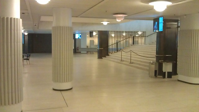 El interior del Finlandia Hall