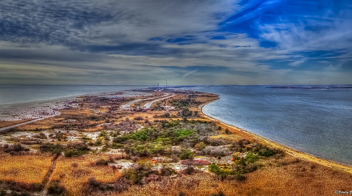 ocean travel sky lighthouse nature clouds island longisland hdr fireisland sonydscrx100