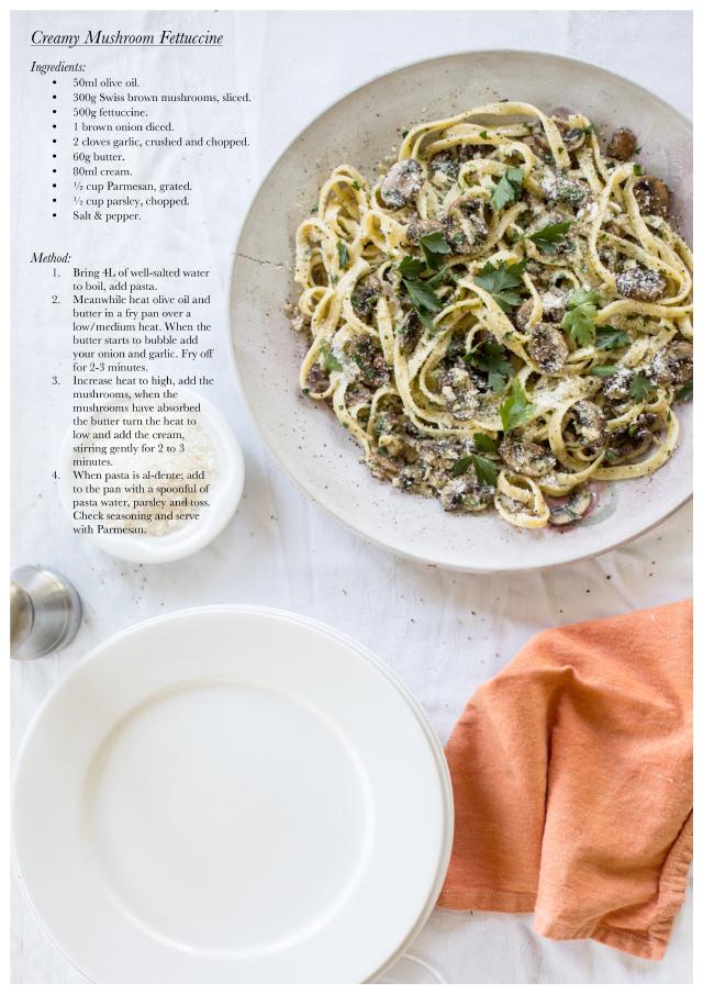 Creamy Mushroom Fettuccine Recipe