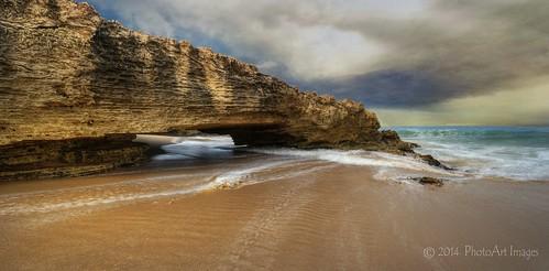 beach rock robe australia rockface southaustralia beachport nikon1424f28