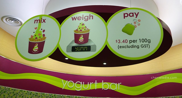 How Menchie's charge their yoghurt.