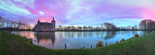 panorama castle sunrise belgium horst kasteel kortrijkdutsel holsbeek pietersrode ixtussy