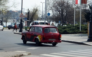 Trabant speeds by
