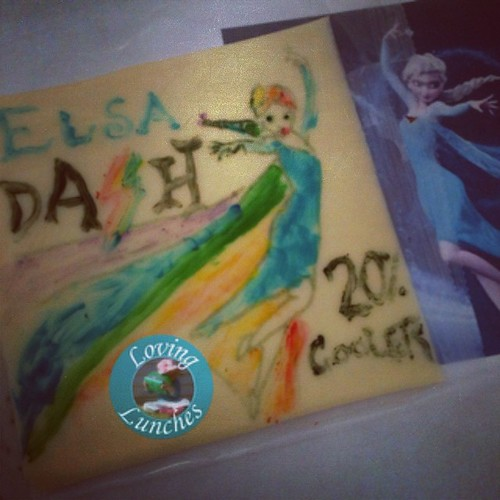 Loving a mash up to celebrate our instant winter here in central QLD… #elsa Dash is #20%cooler  #mlp #rainbowdash #fim #frozen #bento #cheeseart