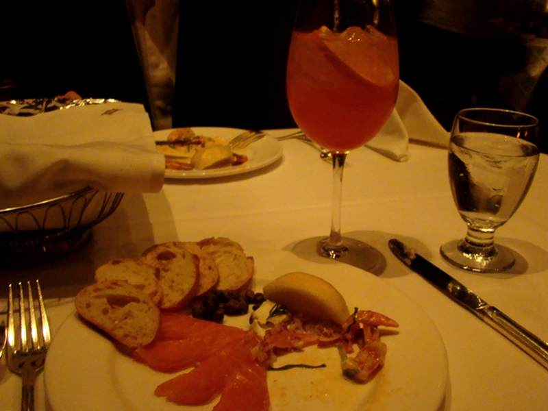Hys Steakhouse smoked salmon appetizer