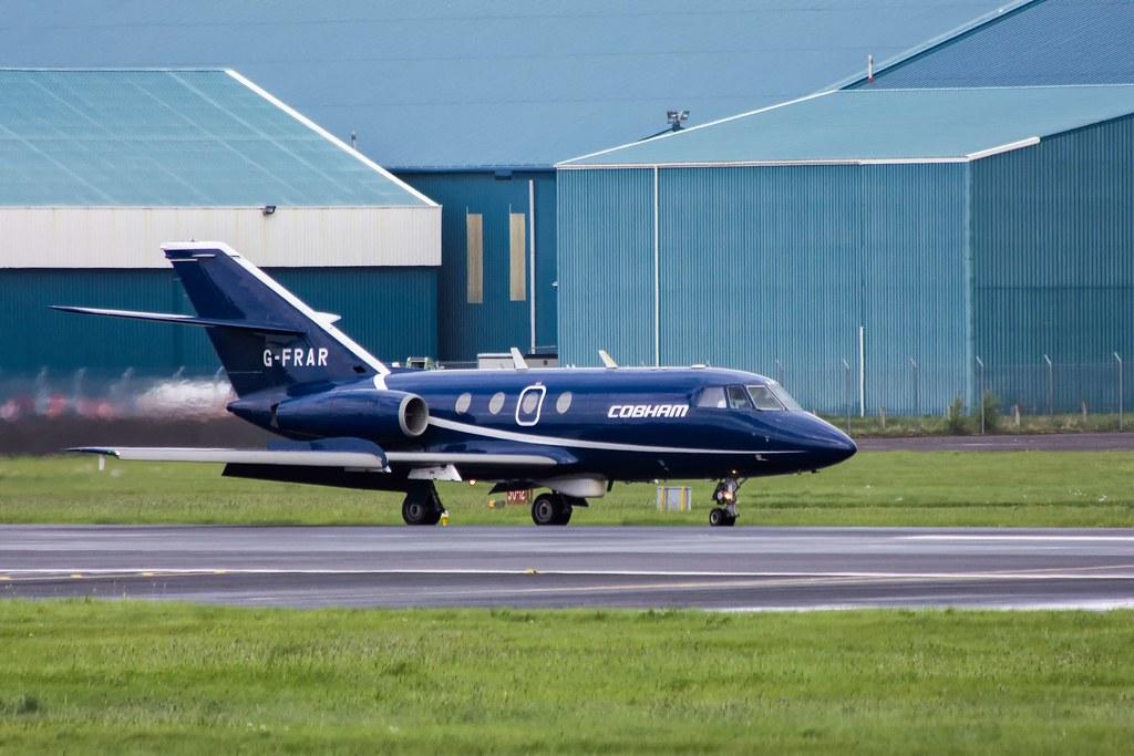 Dassault Falcon 20DC at Glasgow Prestwick