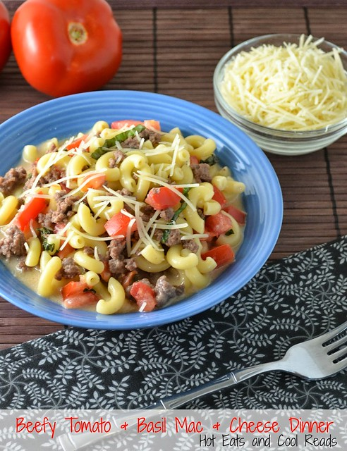 Homemade Beefy Tomato and Basil Mac and Cheese Dinner Recipe