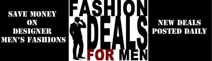 fashion deals for men ad