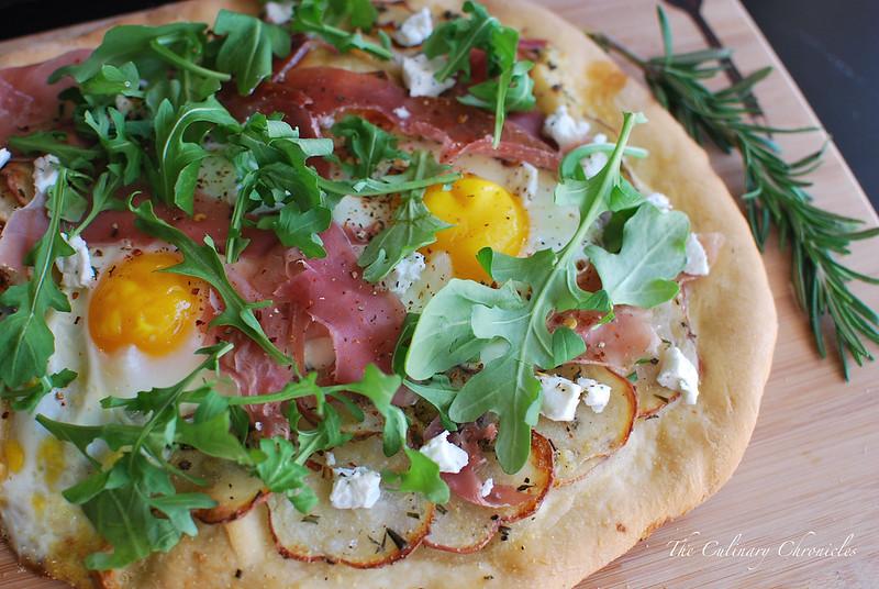 Potato-Egg-Prosciutto Pizza