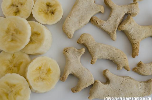 Galletas caseras para perros con plátano