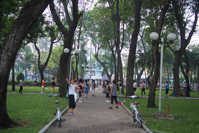 exercising in a park, Ho Chi Minh City (Saigon), Vietnam