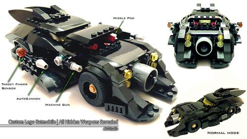 Lego Batman | MOC Custom Batmobile (Reveals All Hidden Weapons)