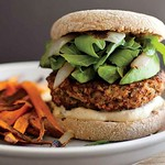 Mushroom and Brown Rice Veggie Burger Recipe