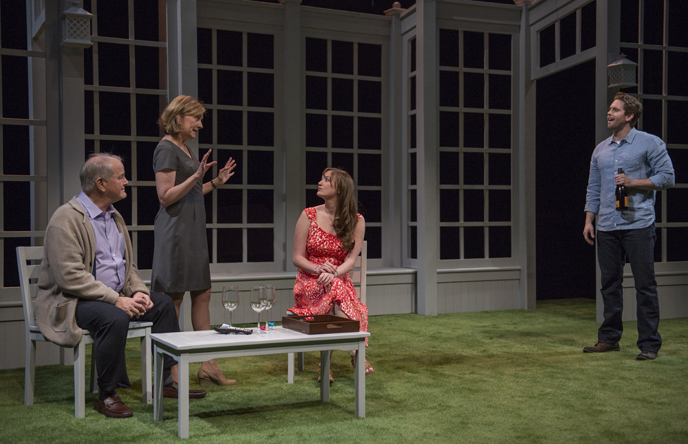Francis Guinan (Ray), Mary Beth Fisher (Roz), Amanda Drinkall (Molly) and Jordan Brown (Christopher)