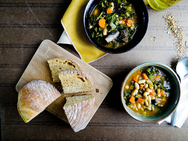 portabella white bean stew // book review