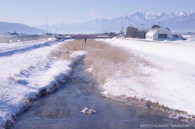 シバレた日の川4