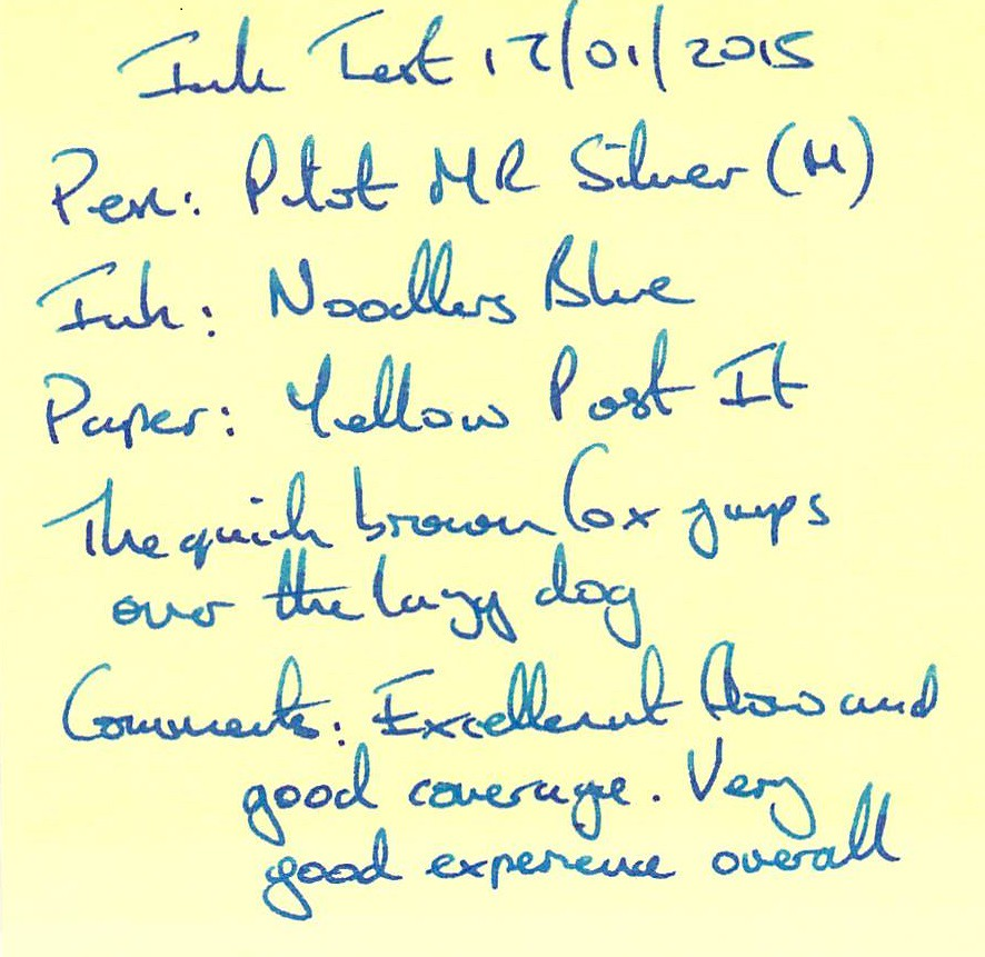 Noodler's Blue Ink Review - Post It