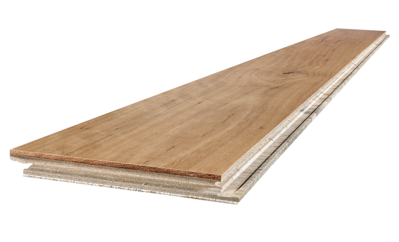 Individual timber boards have a precision-milled square edge