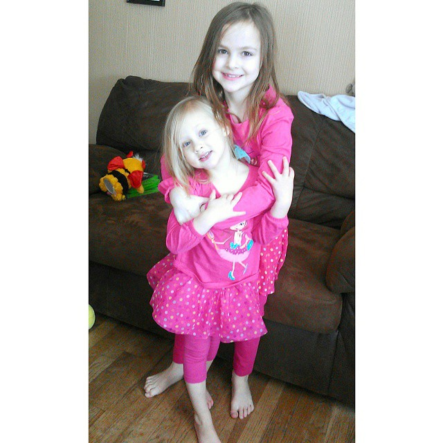 Lexie decided to match Lily today. First time she wanted to do that in over a year!  They're getting along really well right now. I hope it lasts! #sisters