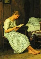 Albert Anker: Eine Gotthelf-Leserin, 1884
