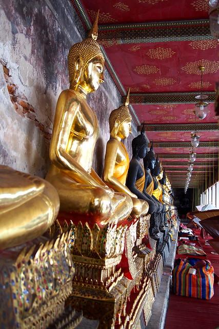 statues of Buddhas, Bangkok, Thailand