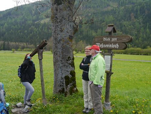 wood alps ferry romy austria österreich petra schild telescope signpost alpen holz steiermark autriche styria fernrohr hochschwab grünersee tragös oberort mesnerinloch wanderung20160507