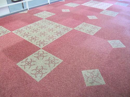京都競馬場6階の絨毯