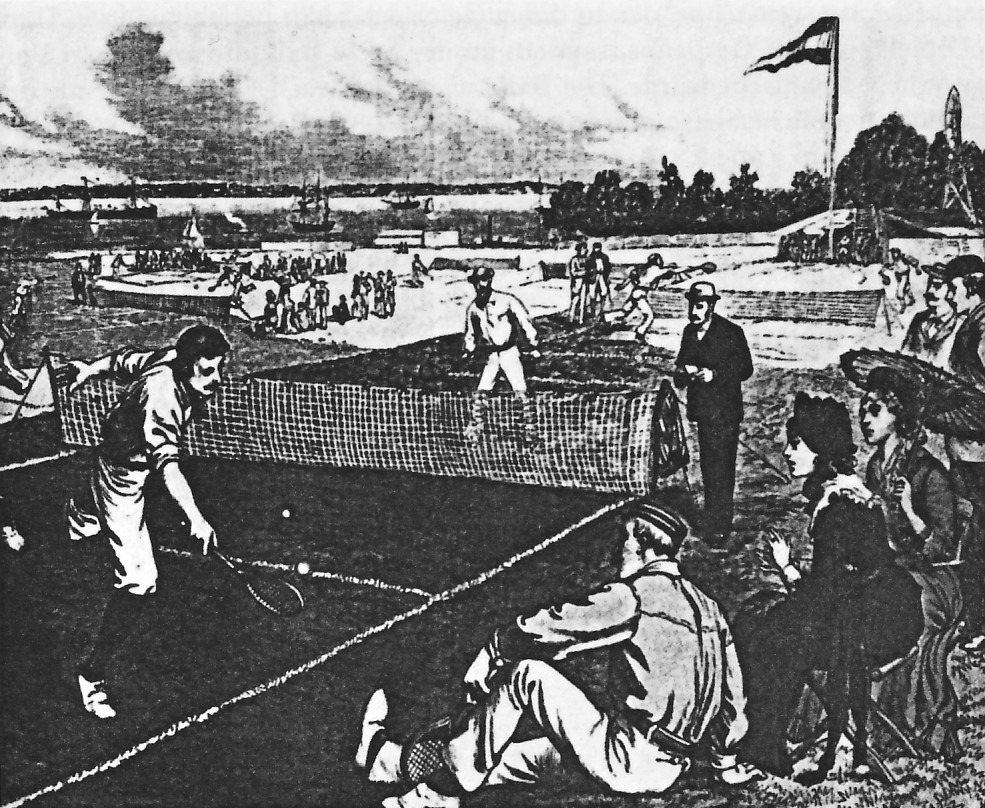 First Official Tennis Tournament in the US, Staten Island Cricket Club, New York City, on September 1st, 1880.