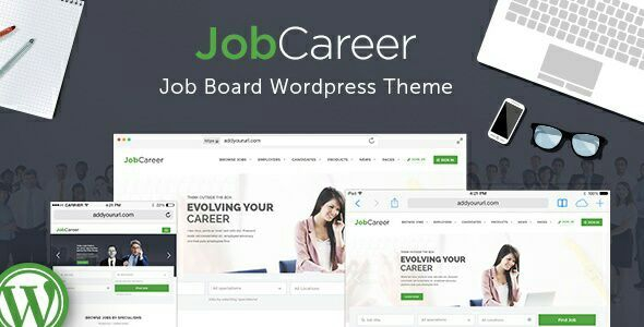 JobCareer v1.4 - Job Board Responsive WordPress Theme