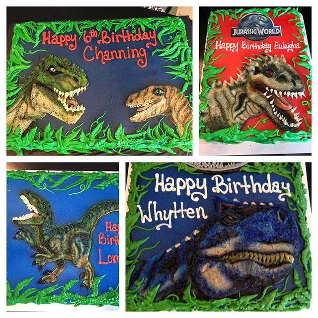 Buttercream Dinosaurs Cake by Anna Ubel