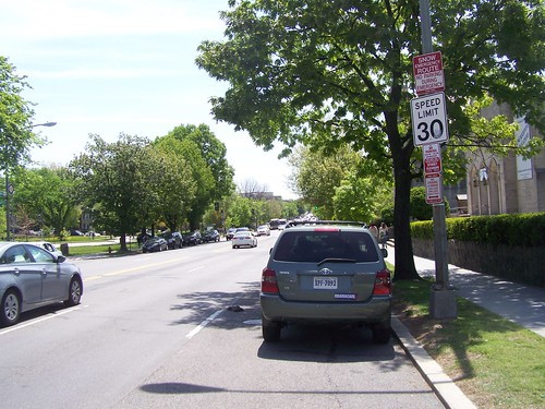 30 mph speed limit within one block of the Tenleytown Metro on Wisconsin Avenue NW