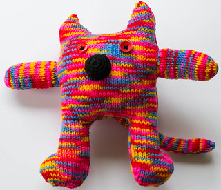 Multi-colour Knitted Cat