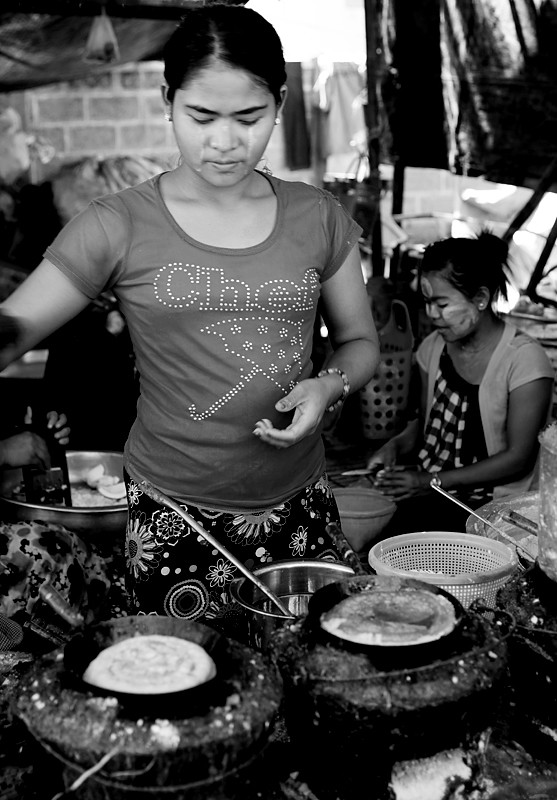 The Food Stall - Nyaung Shwe (Yawnghwe),  Shan State, Myanmar