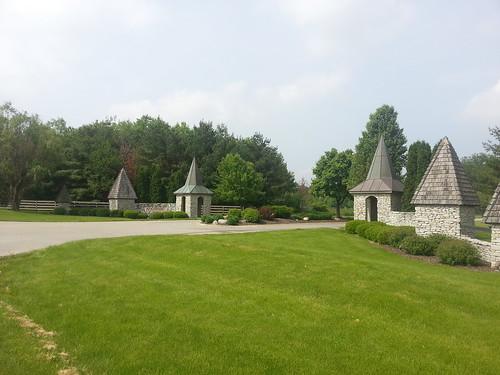 Gaudy subdivision entrance