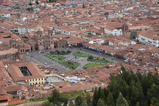 A view of the main square in Cusco, Peru, May 2013