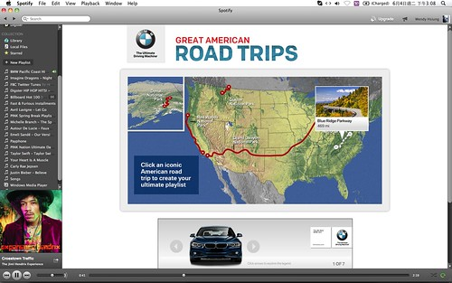 2013 BMW Great American Road Trips campaign@Spotify_05