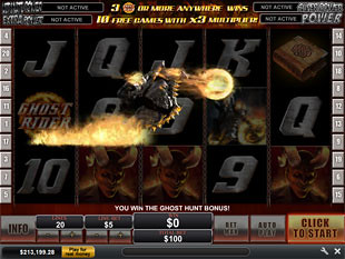 Ghost Rider Bonus Game